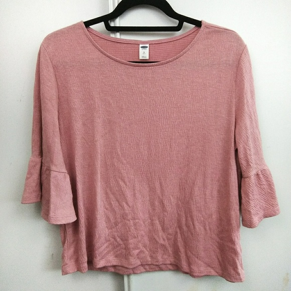 Old Navy Tops - Old Navy Dusty Pink/Rose Bell Sleeve Crepe Top